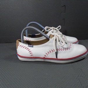 Womens Sz 6 Keds Champion Pennant Leather Sneakers